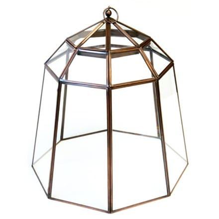 Victorian lidded bronze lantern cloche