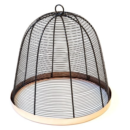Copper rimmed cloche - bronze