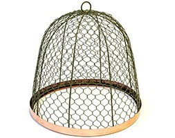 Copper rimmed cloche - lichen green