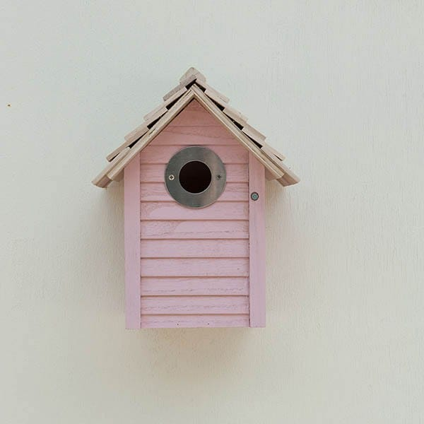 New England nest box - pink