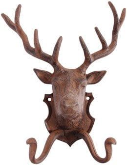 Cast iron reindeer coat hook
