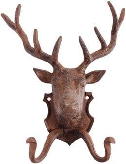 Cast iron reindeer coat hook