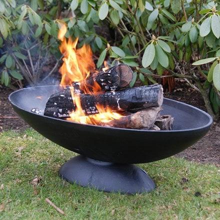 Cast iron oval fire pit