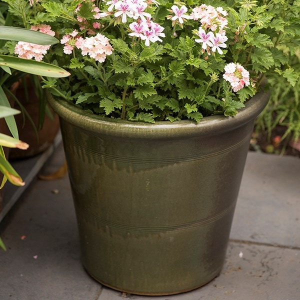 Glazed flower pot