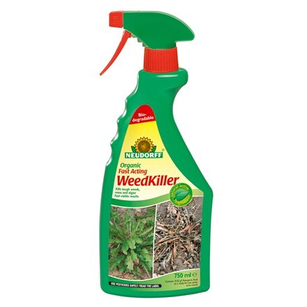 Organic fast acting weedkiller