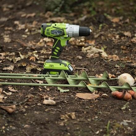 Cordless Greenworks hand drill set