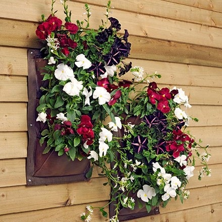 Verti-plant vertical wall planter