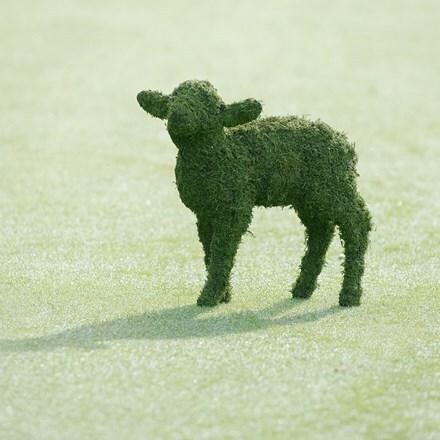 Lamb garden sculpture