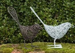 Wire bird - pewter