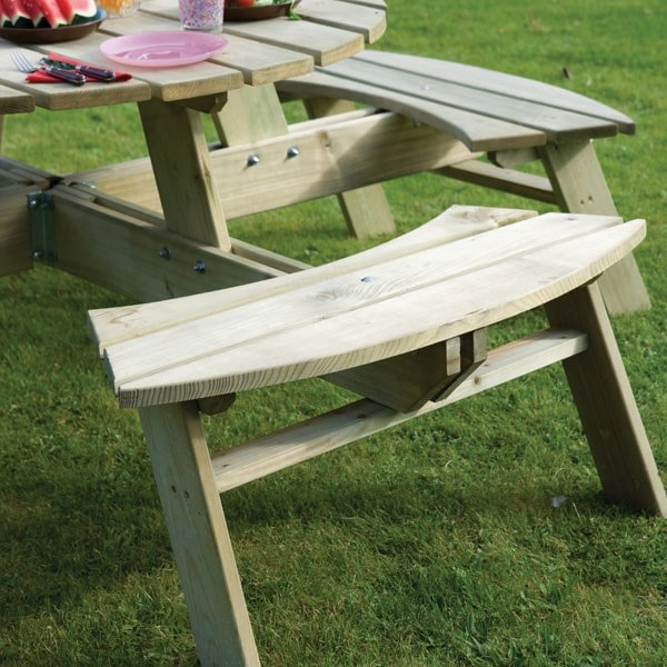 Buy round picnic table delivery by waitrose garden in for 10 person picnic table