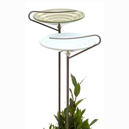 Stake bird bath - sky blue