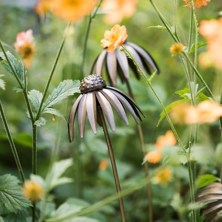 Echinacea plant stake - antique bronze