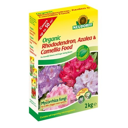Organic rhododendron, camellia and azalea food with Mycorrhiza