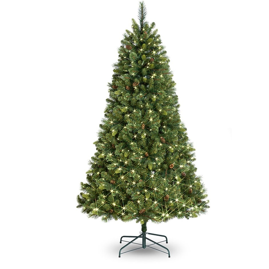 Pre-lit stratton pine artificial Christmas tree