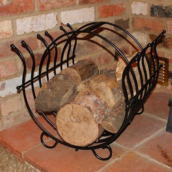 Steel log basket