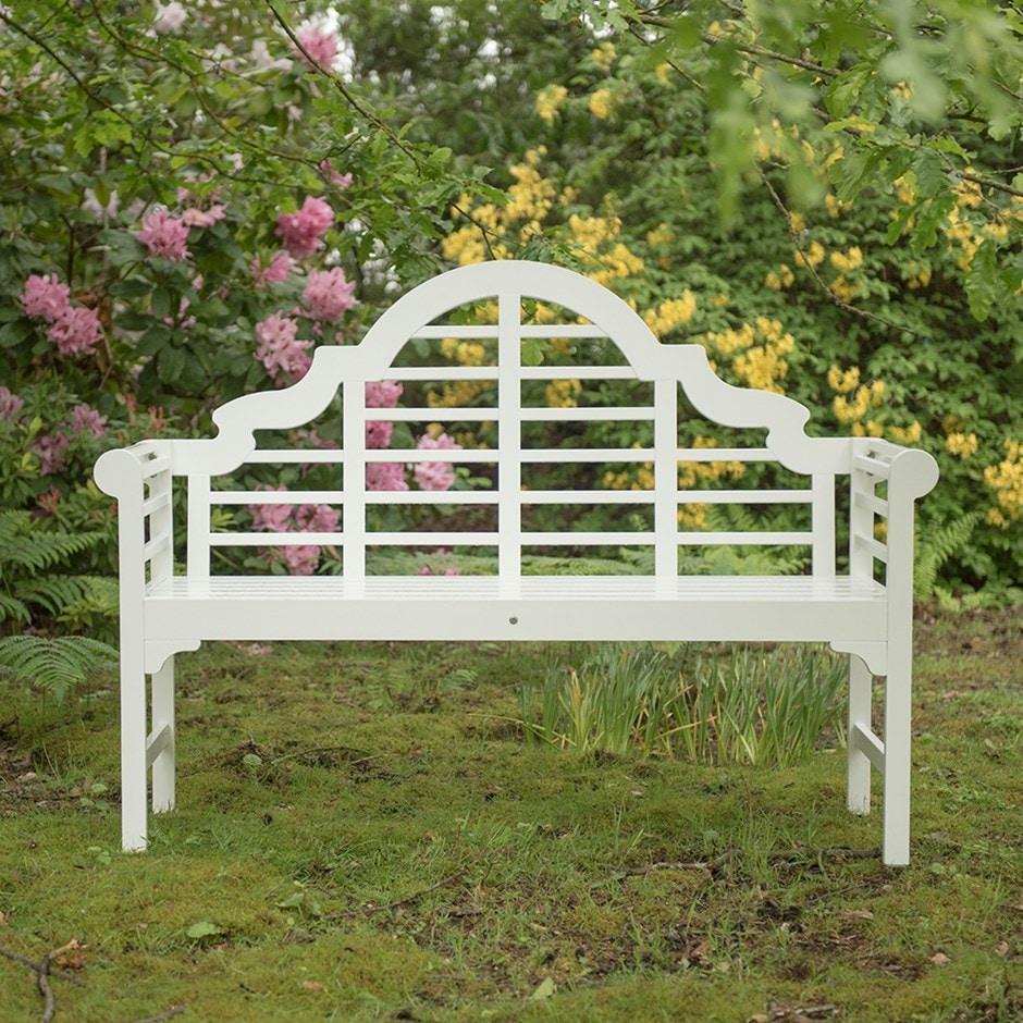 Lutyens-style bench - white