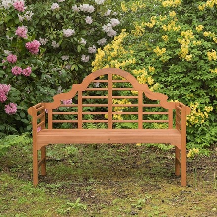 Lutyens-style bench - natural