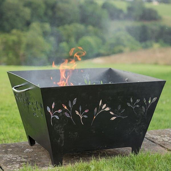 Leafy fire pit