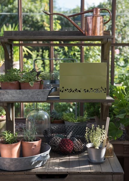 Perforated calendar seed box