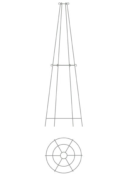 Elegant tiered metal obelisk - two tier