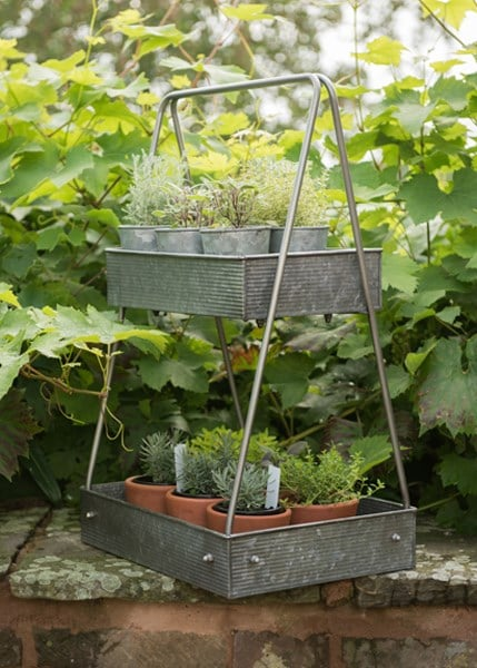Portable plant caddy