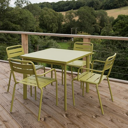 4 Seat Florence dining set - green