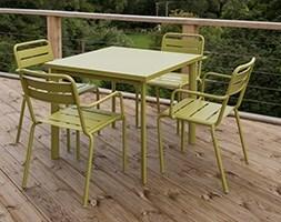 4 Seat Florence dining set - green