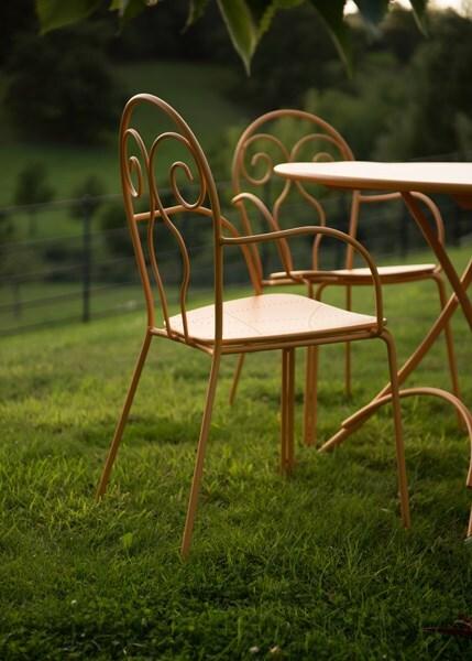 4 seat Venice furniture set - orange