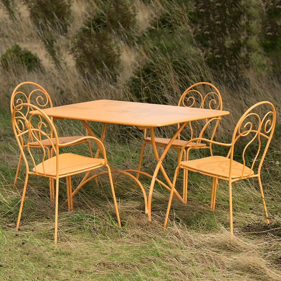 4 seat Venice dining set - orange