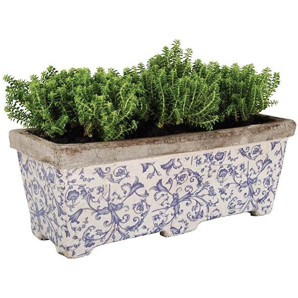 Aged ceramic trough