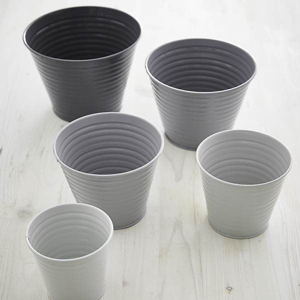 Set of five ombre pots