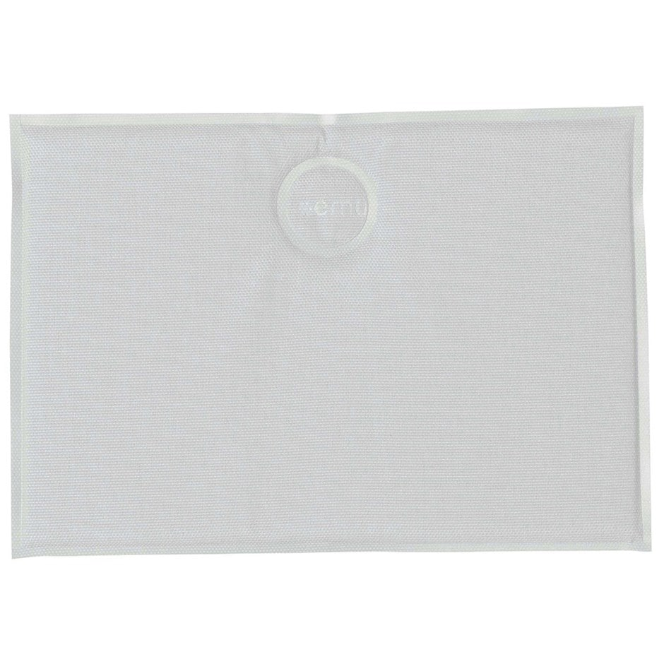 Rectangle magnetic seat pad - white