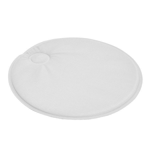 Round magnetic seat pad - white