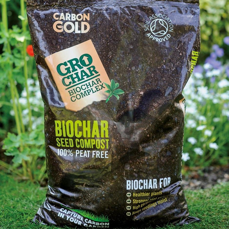 Carbon Gold biochar seed compost