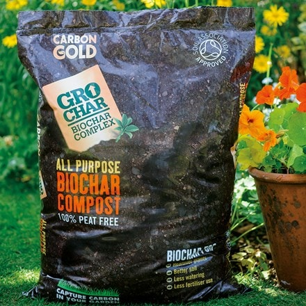 Carbon Gold grochar all purpose compost