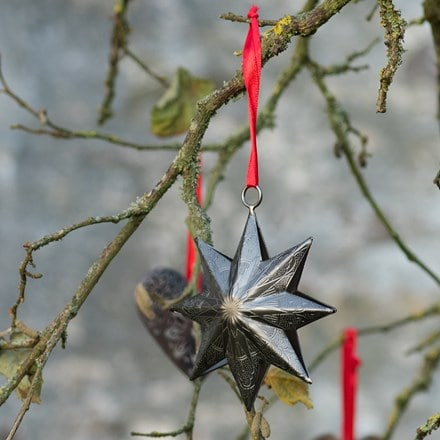 Hanging stars - antique pewter