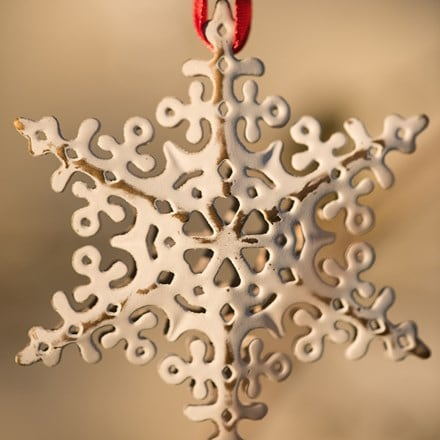 Set of 4 hanging snowflakes