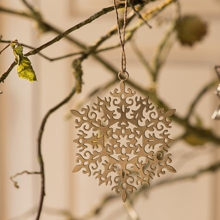 Set of 4 hanging snowflake stars
