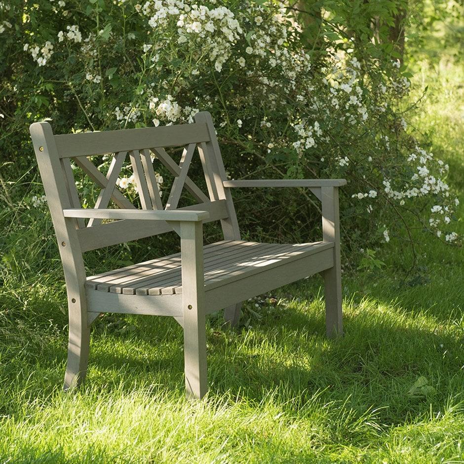 Buy Hampton Bench Grey: Delivery By Waitrose Garden In