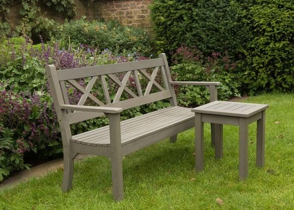 Hampton bench grey