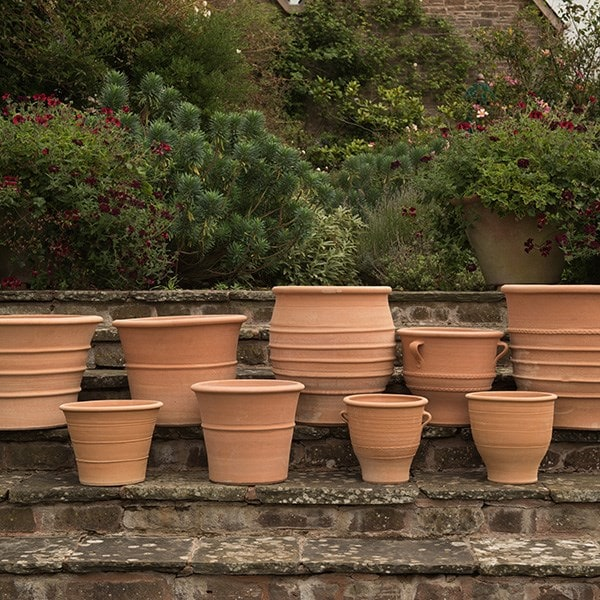 Frost proof clay garden pots garden ftempo for Olive garden fashion square mall