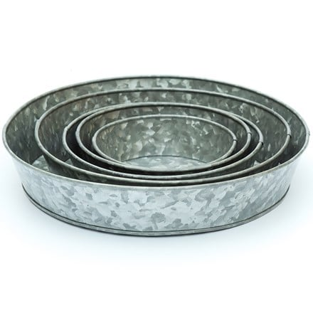 Galvanised tray - 5 sizes