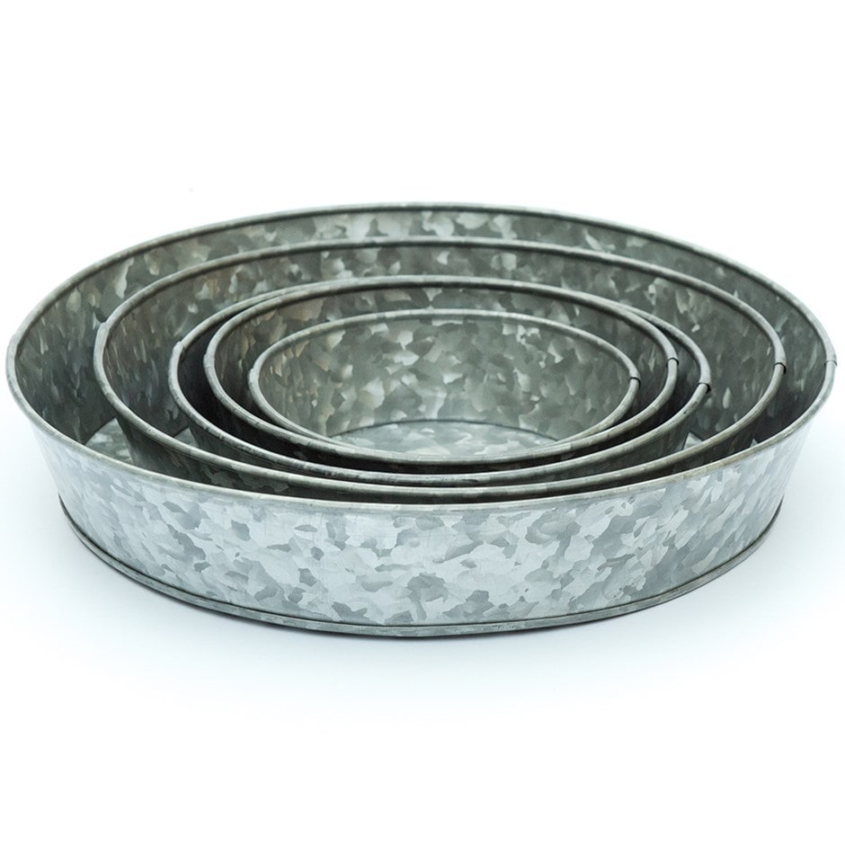 Galvanised tray - choice of 5 sizes
