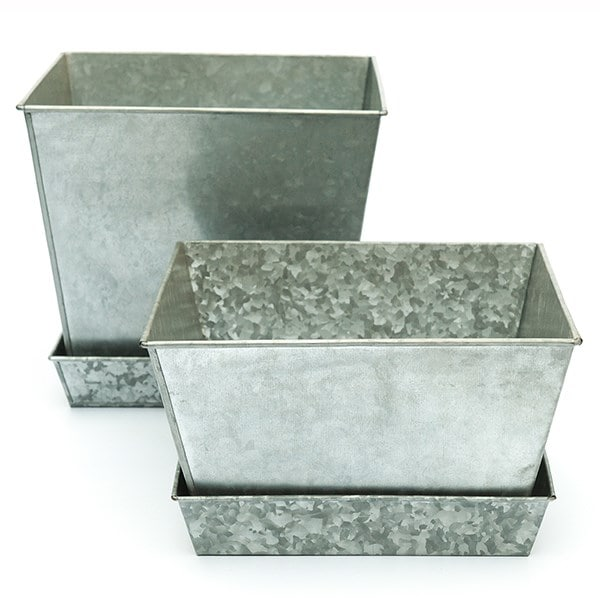 Galvanised square tray