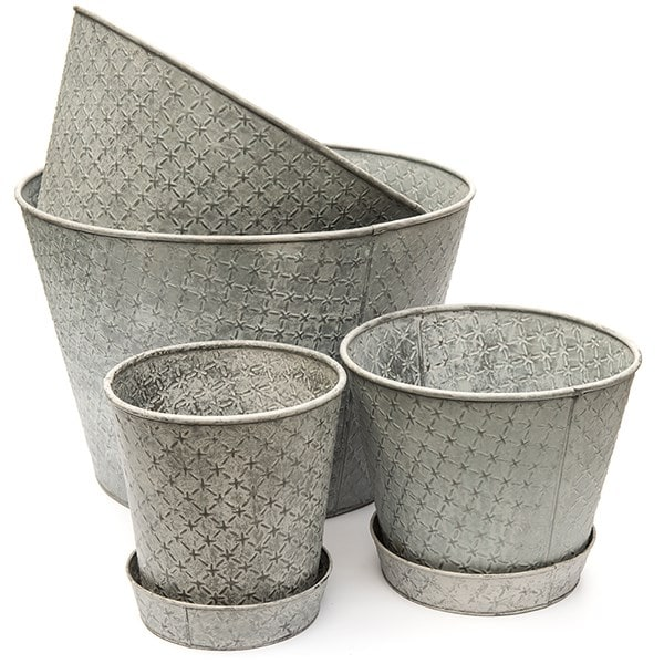 Embossed aged planter