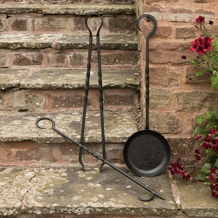 Set of fire pit tools