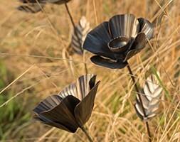 Poppy flower stake