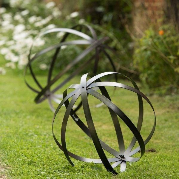 Sculptural sphere zinc