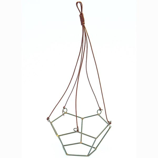 Geo hanging pot holder