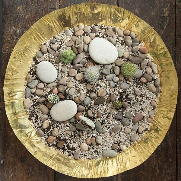 Brass plant bowl